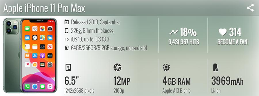 موبايل Apple iPhone 11 Pro Max - موبي زووم