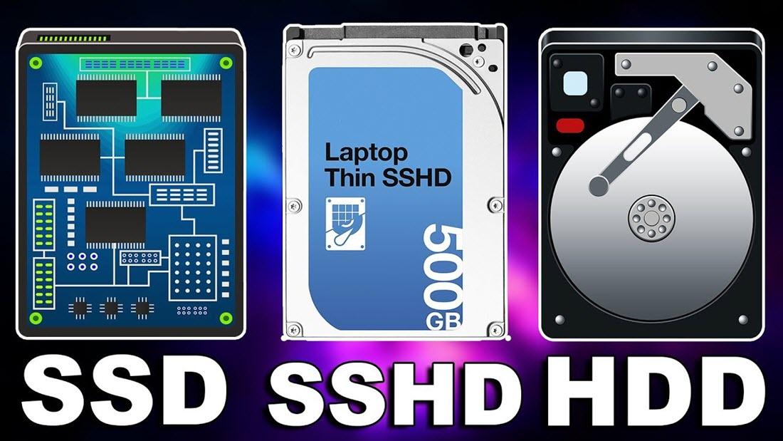 بين hdd vs ssd vs sshd - موبي زووم