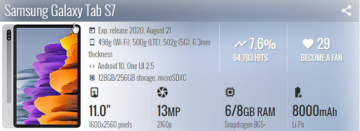 Samsung Galaxy Tab S7 - موبي زووم