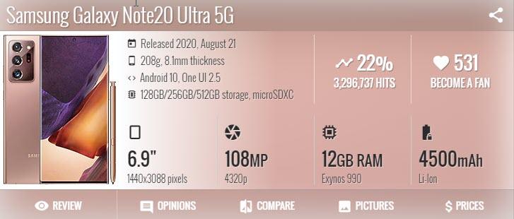 Samsung Galaxy Note 20 Ultra - موبي زووم