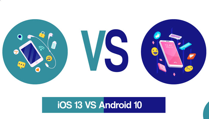بين الاندرويد 10 و iOS 13 - موبي زووم