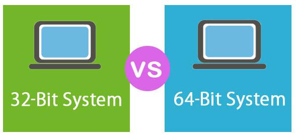 بين نظام 64 بث و 32 بث - موبي زووم