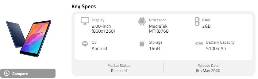 Huawei MatePad T8 أفضل تابلت رخيصة - موبي زووم