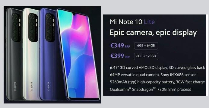 Xiaomi Mi Note 10 Lite - موبي زووم