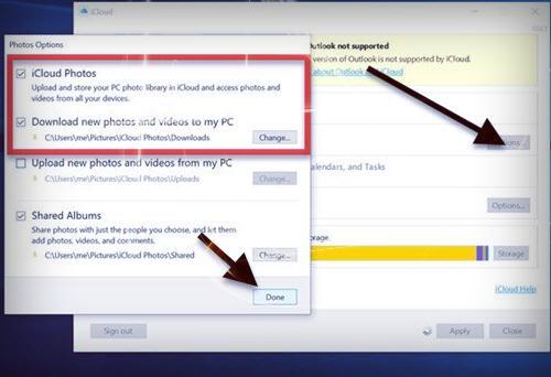 الصور والفيديو عن طريق برنامج iCloud - موبي زووم