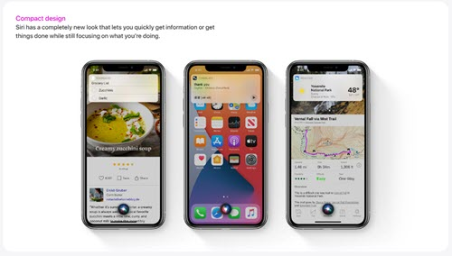 شكل Siri - موبي زووم