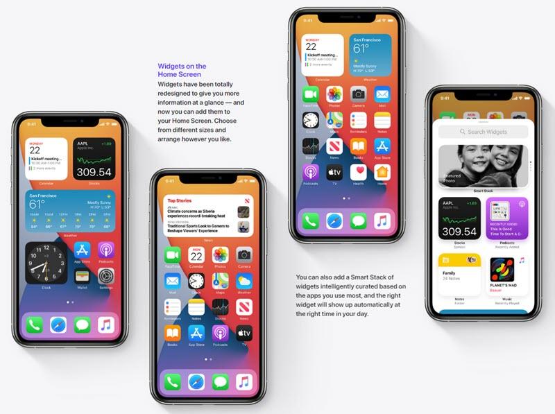 تطبيقات في الشاشة الرئيسية للايفون - موبي زووم