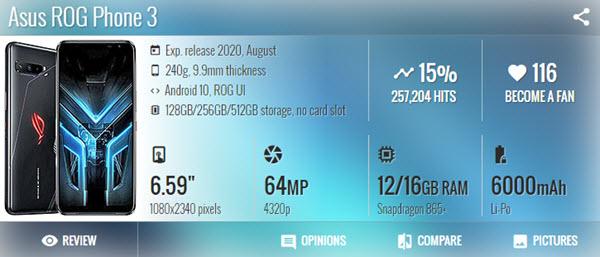 الالعاب Asus ROG Phone 3 - موبي زووم