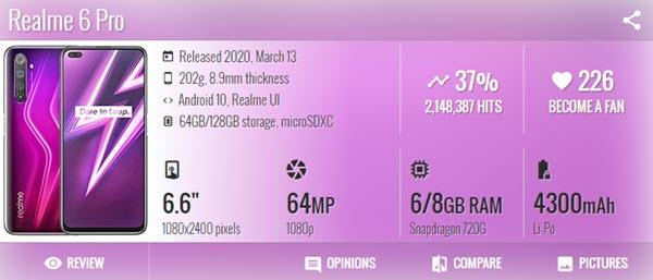 اوبو ريلمي Oppo Realme 6 Pro - موبي زووم