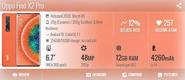 اوبو فيند Oppo Find X2 Pro - موبي زووم