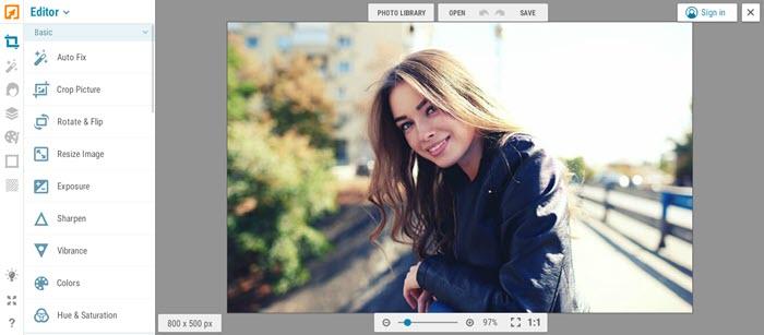 تحرير الصور اونلاين iPiccy Editor - موبي زووم
