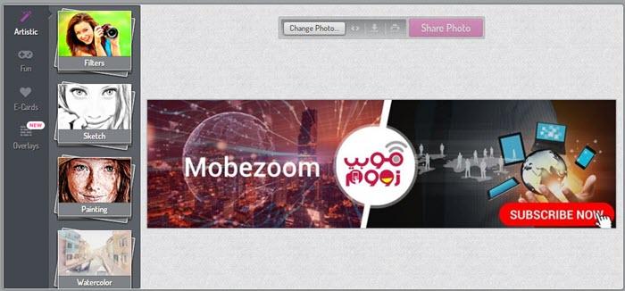 تحويل الصور على كارتون اونلاين PhotoMania - موبي زووم