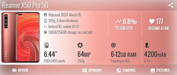 اوبو ريلمي Oppo Realme X50 Pro - موبي زووم