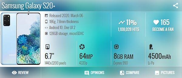 Samsung Galaxy S20 - موبي زووم
