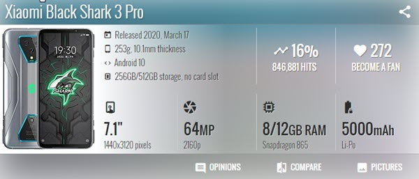 Xiaomi Black Shark 3 Pro - موبي زووم