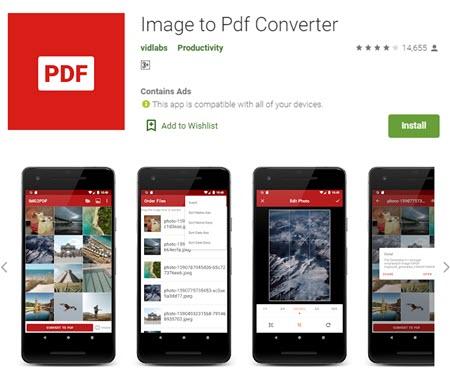 الصور الى PDF للموبايل - موبي زووم