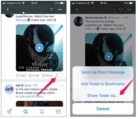 برنامج تحميل الفيديو من التويتر للأيفون - موبي زووم
