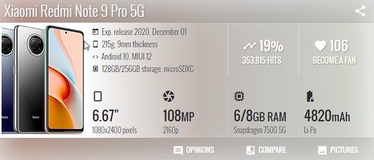 Xiaomi Redmi Note 9 Pro 5G - موبي زووم