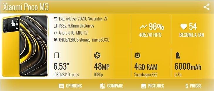 Xiaomi Poco M3 - موبي زووم