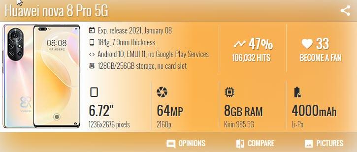 Huawei nova 8 Pro 1 - موبي زووم