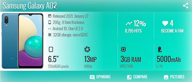 Samsung Galaxy A02 - موبي زووم