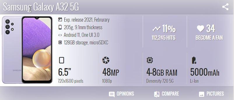 Samsung Galaxy A32 - موبي زووم