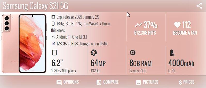 Samsung Galaxy S21 1 - موبي زووم