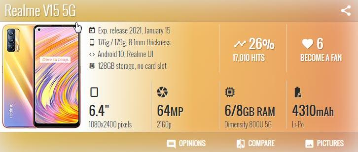Realme V15 - موبي زووم