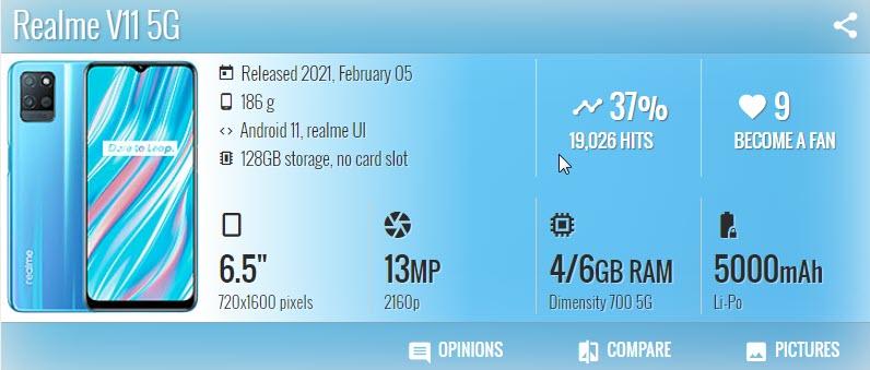 Realme V11 5G - موبي زووم