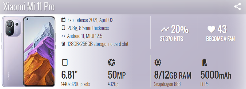 Xiaomi Mi 11 Pro - موبي زووم