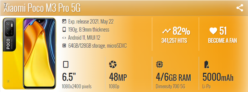 Xiaomi Poco M3 Pro 5G - موبي زووم