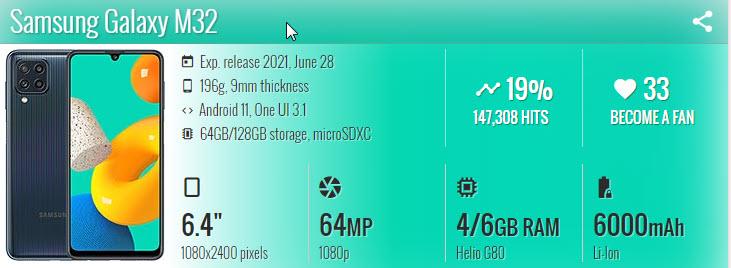 سامسونج M32 - موبي زووم